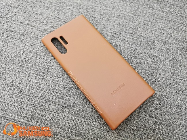 op lung galaxy note 10 plus Leather Cover da dep
