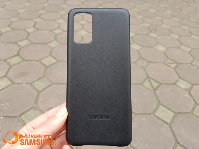 op lung da Samsung S20 plus 5g leather cover chinh hang