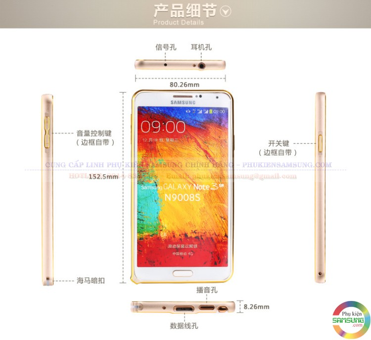 Ốp viền Galaxy Note 3
