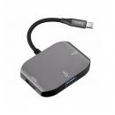 Cable chuyển từ USB type C sang HDMI + USB 3.0 + USB 2.0 hiệu Hoco
