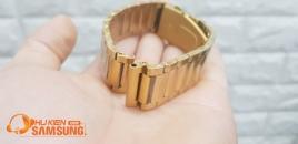 Dây đồng hồ kim loại vàng 20mm